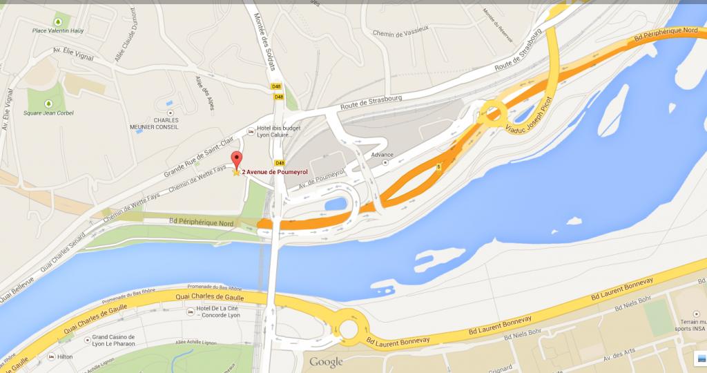 2  avenue de Poumeyrol  69300 Caluire et Cuire   Google Maps