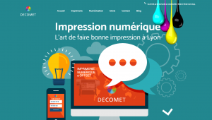 site internet Imprimerie decomet FBmediaworks creation de site internet lyon