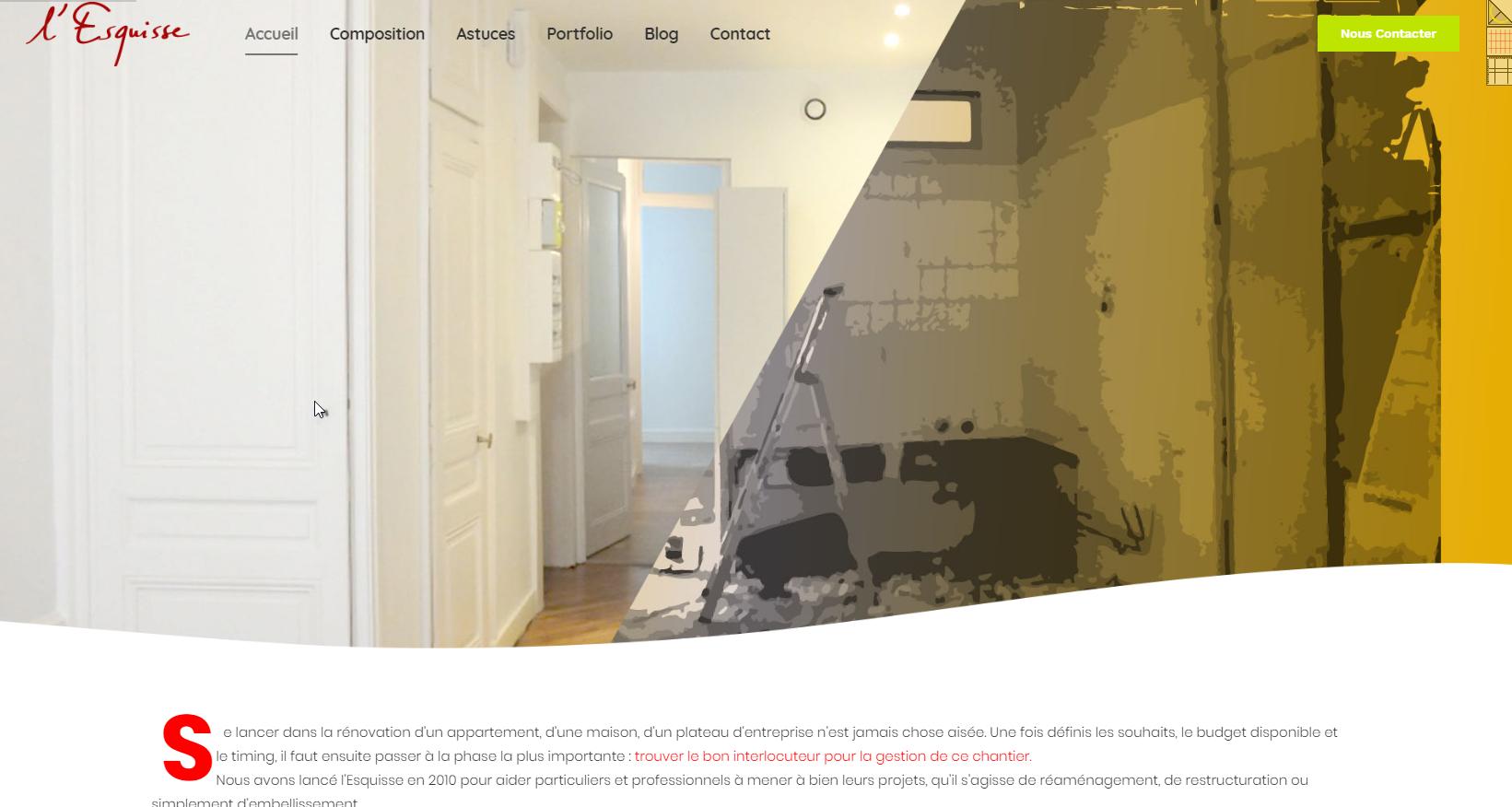 L'Esquisse _ Maîtrise d'ouvrage pour projets de rénovation ou de réaménagements- Lyon-Fbmediaworks- création site internet Lyon